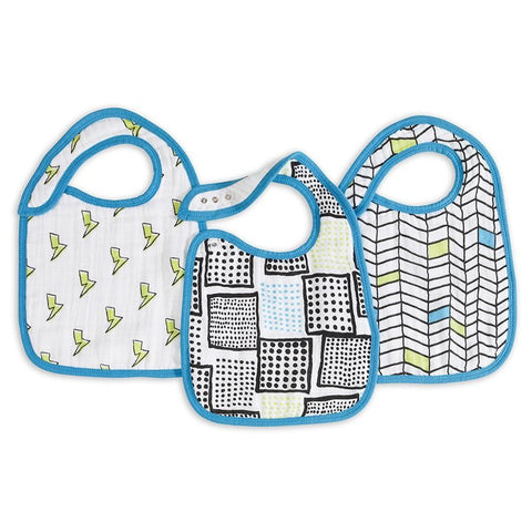 Whiz Kid 3 Pack Classic Snap Bib by Aden and Anais