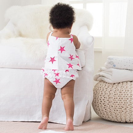 Pink Star Ruffle Bloomer by Aden And Anais