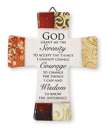 Serenity Prayer Ceramic Cross