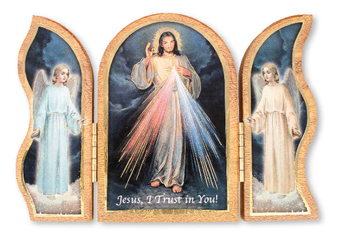 Folding Divine Mercy Triptych