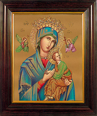 "Our Lady of Perpetual Help 8 x 6"" Framed"