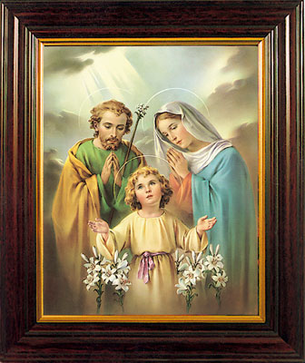 "Holy Family Image 8 x 10"" Framed"