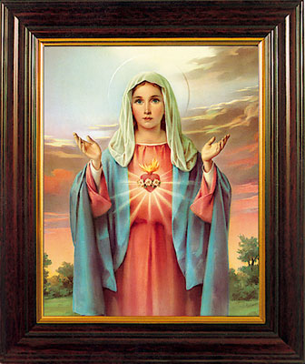 "Immaculate Heart 8 x 6"" Framed"