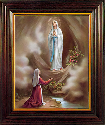 "Our Lady of Lourdes 8 x 6"" Framed"