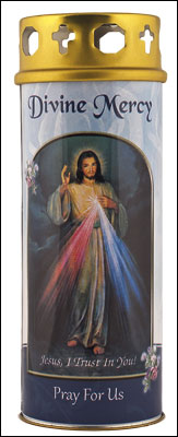 Divine Mercy Votive Candle (3 days burn time)