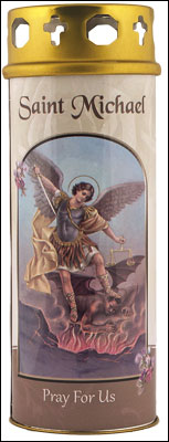 St. Michael Votive Candle (3 days burn time)
