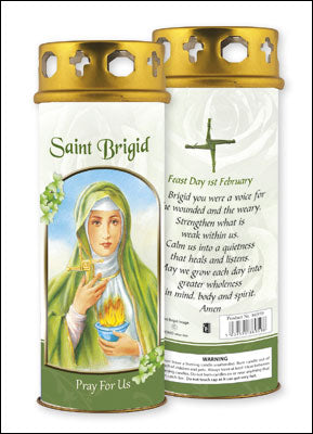 St. Brigid Votive Candle (3 days burn time)