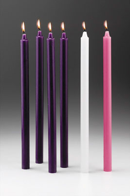 Small Advent Candles