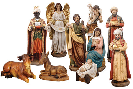 Nativity Set - 10 resin figures 6""