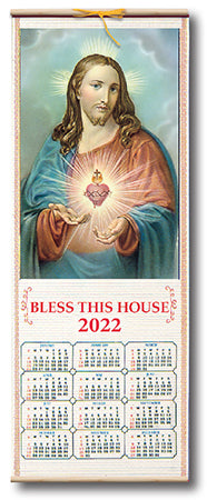 Sacred Heart Scroll Calendar 2021