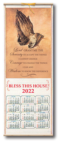 Serenity Prayer Scroll Calendar 2019