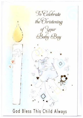 Christening Card (Boy)