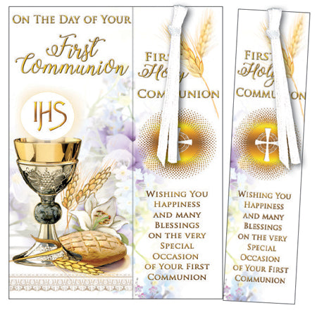 First Communion - Symbolic with Bookmark