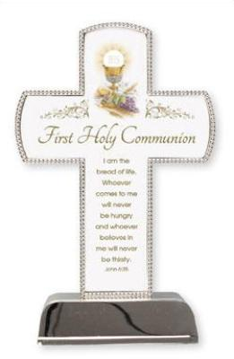 Communion Cross - Silver Plated
