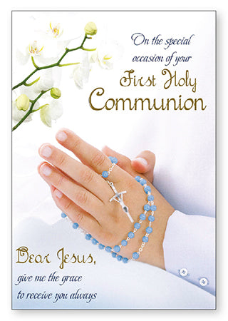 Holy Communion Card - boy