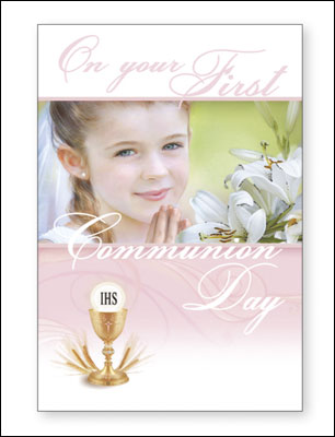 Holy Communion Card - girl