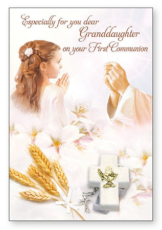 Holy Communion Card - girl - granddaughter