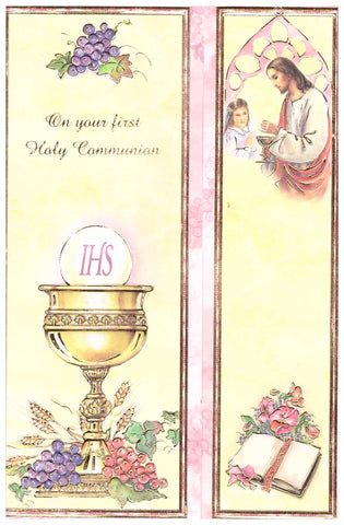 First Holy Communion Card - girl