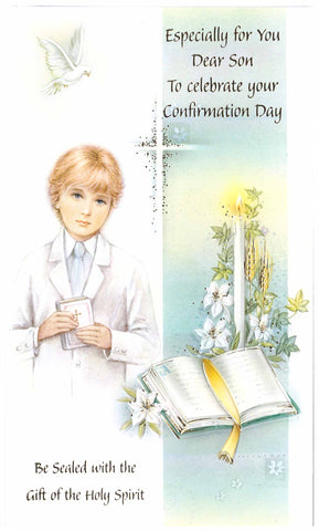 Confirmation card -Boy