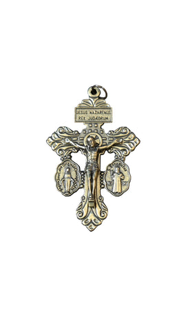 Pardon Crucifix - Brass Plated