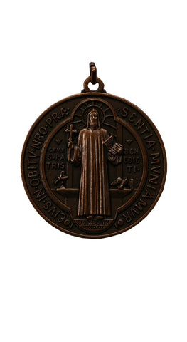 Large bronze plated St. Benedict's medal