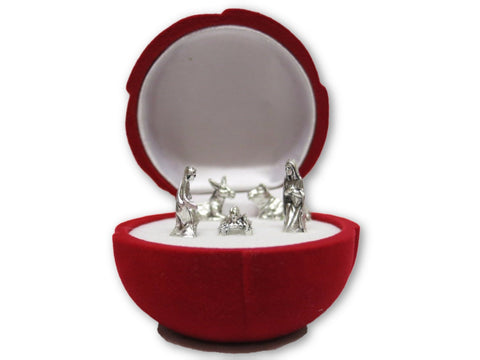 Mini Nativity Scene - Rose Shaped