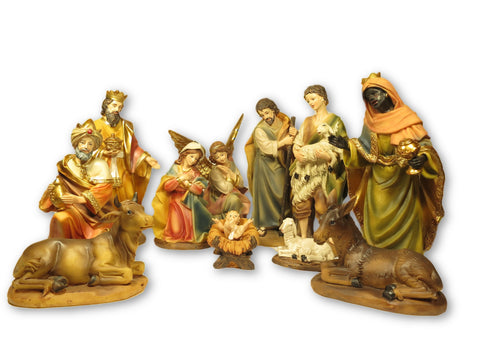 Nativity Set - 11 resin figures 8""