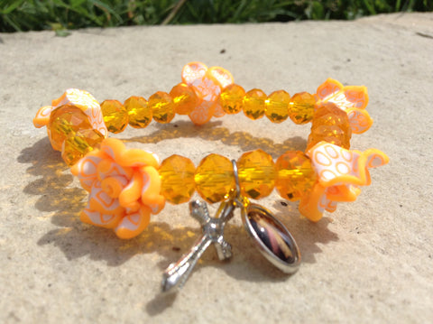 Sparkling Flower Bracelet (variety of colours)