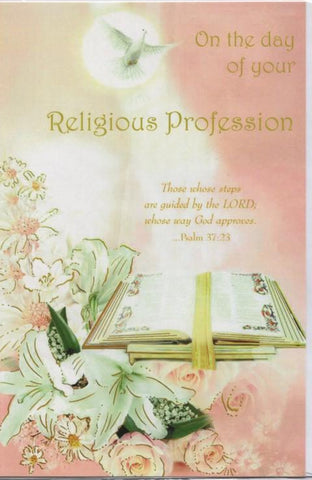 Religious Profession Card