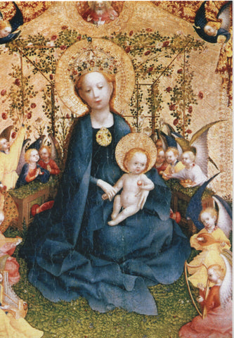 Madonna of the Rose Bower Christmas Card