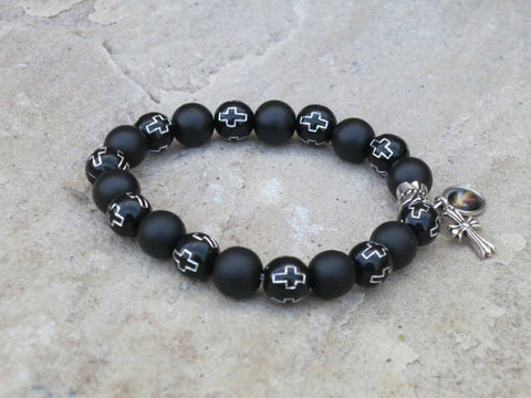 Black elasticated bracelet