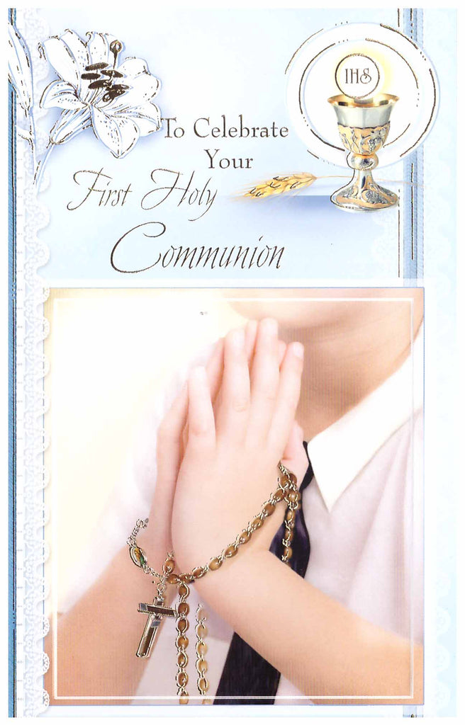 First Holy Communion Card Boy Holy Cross Catholic Bookshop