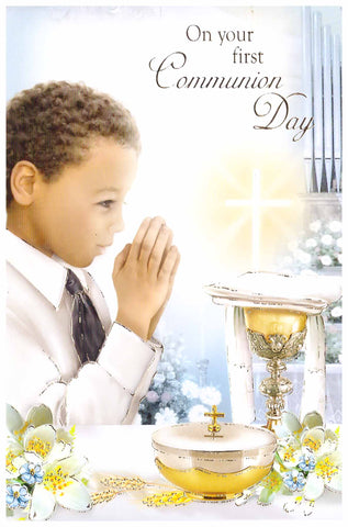 First Holy Communion Card - boy