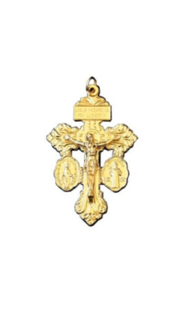 Pardon Crucifix - Gold plated