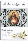 With Sincere Sympathy Mass Card