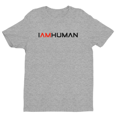 IAMHUMAN Short sleeve men's t-shirt (Black Print)