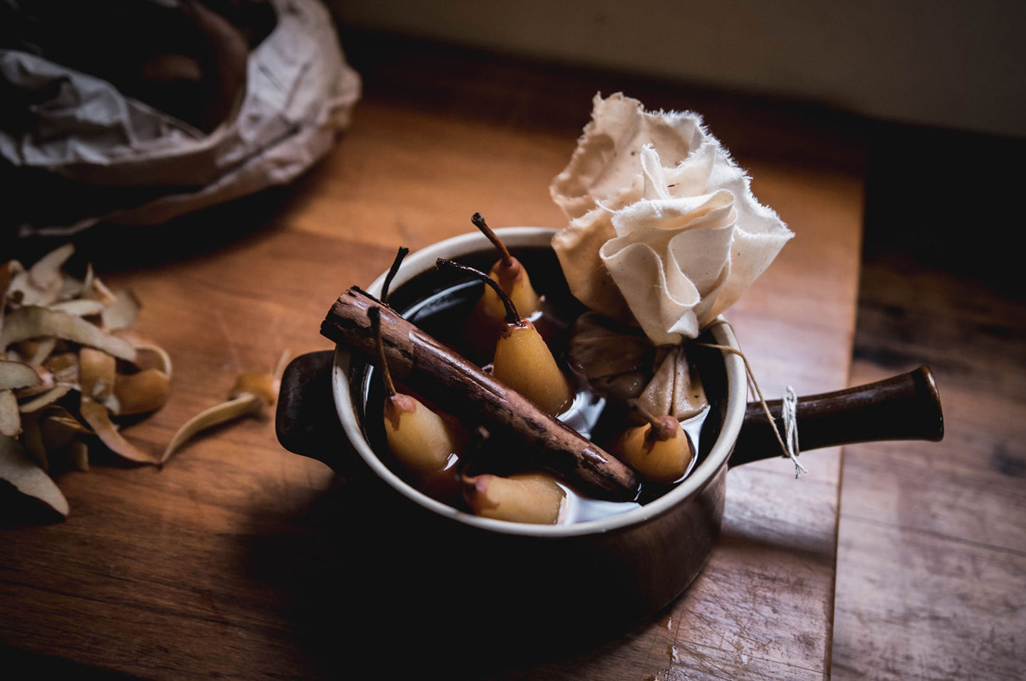 Rooibos Chai Poached Pears