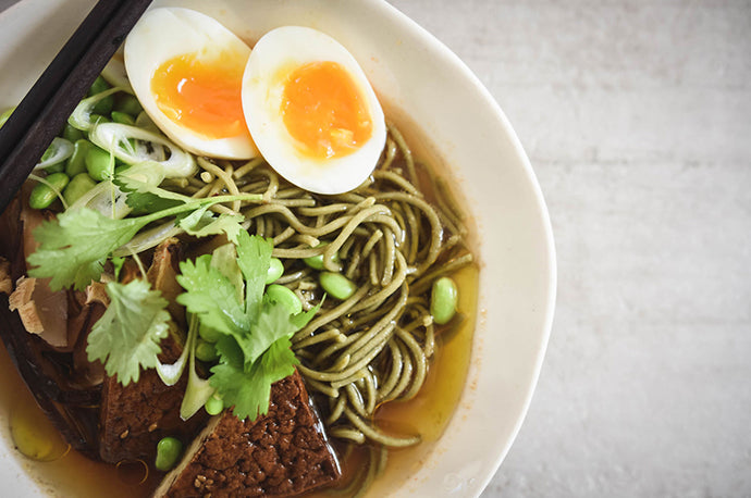 GLUTEN FREE SOBA NOODLES WITH MATCHA