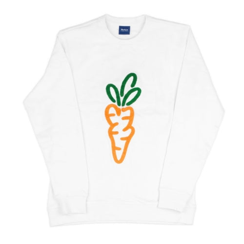 CARROT LOGO CREWNECK SWEATSHIRT - WHITE