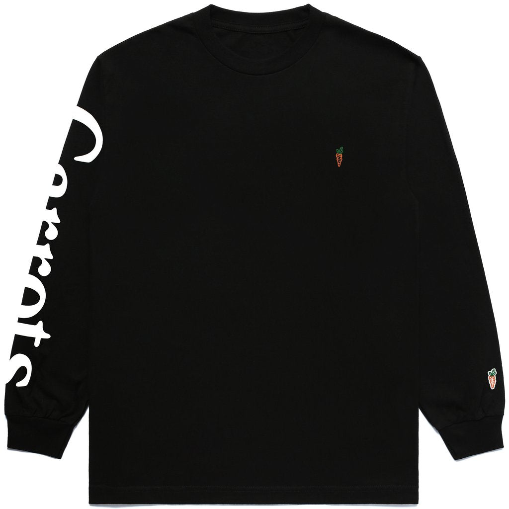 SIGNATURE CARROT LONG SLEEVE TEE - BLACK