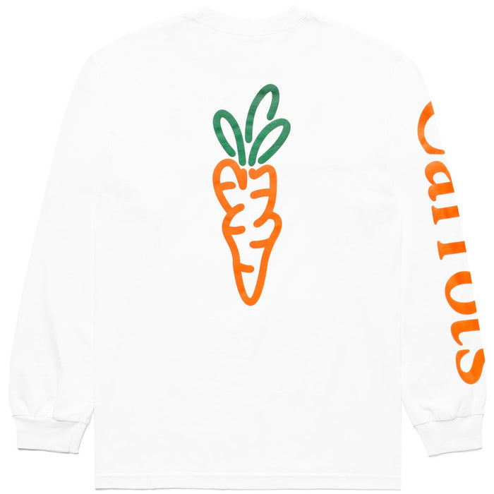 SIGNATURE CARROT LONG SLEEVE TEE - WHITE