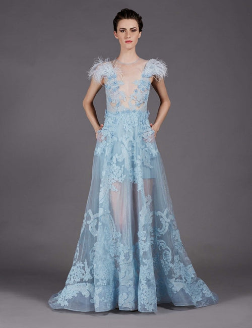 Riley Placid Blue Gown