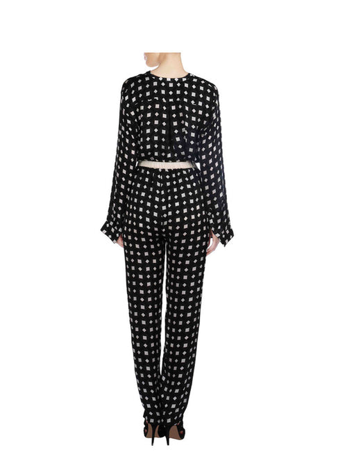Stella Black And White Printed Pant And Top