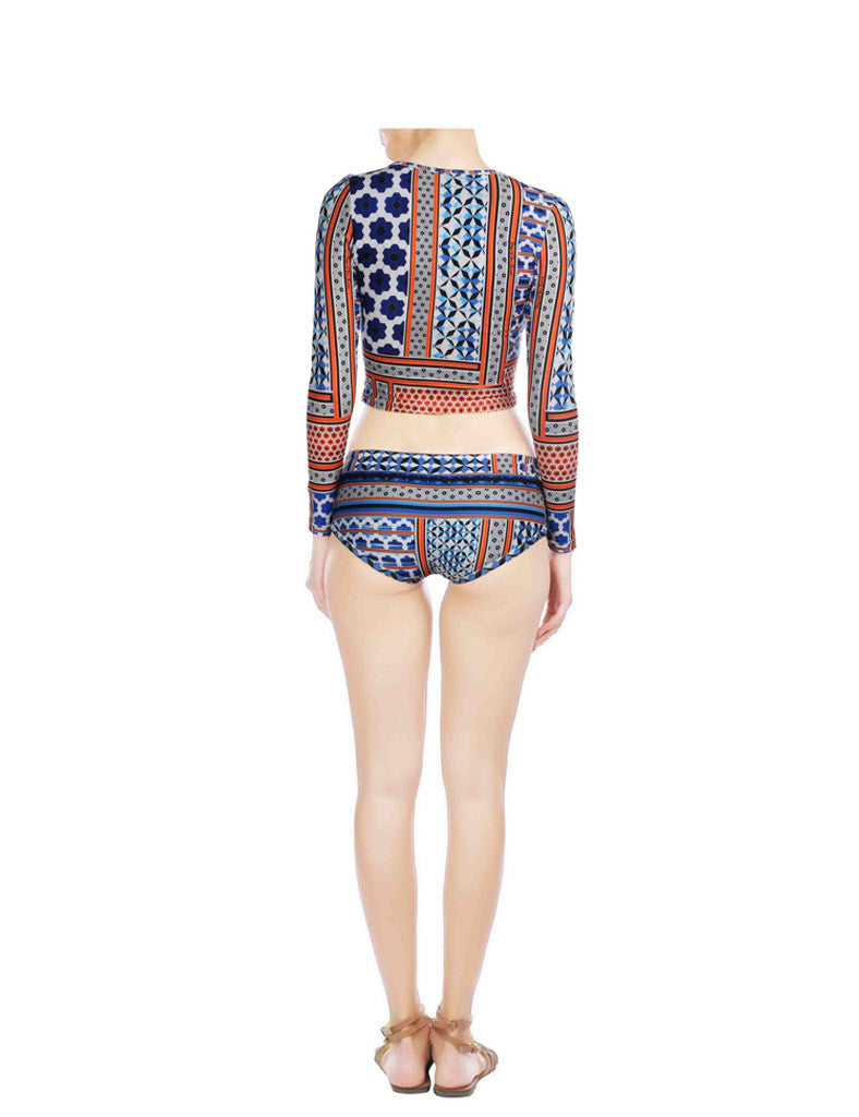 Eleanor Blue Printed Swimsuit