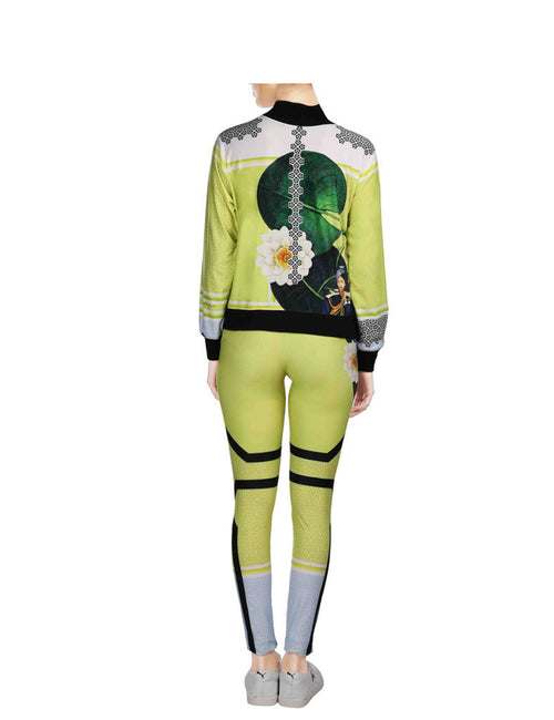 Alice Yellow Printed Tracksuit