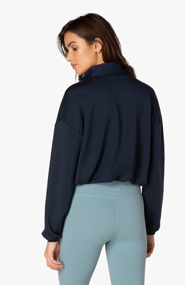 By Request Cropped Pullover - Nocturnal Navy