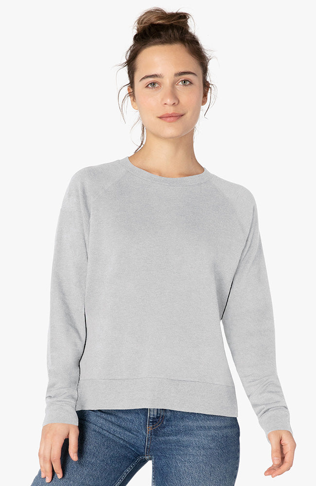 Favorite Raglan Crew Pullover - Light Heather Gray