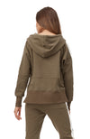 Jade Hooded Sweater - Olive