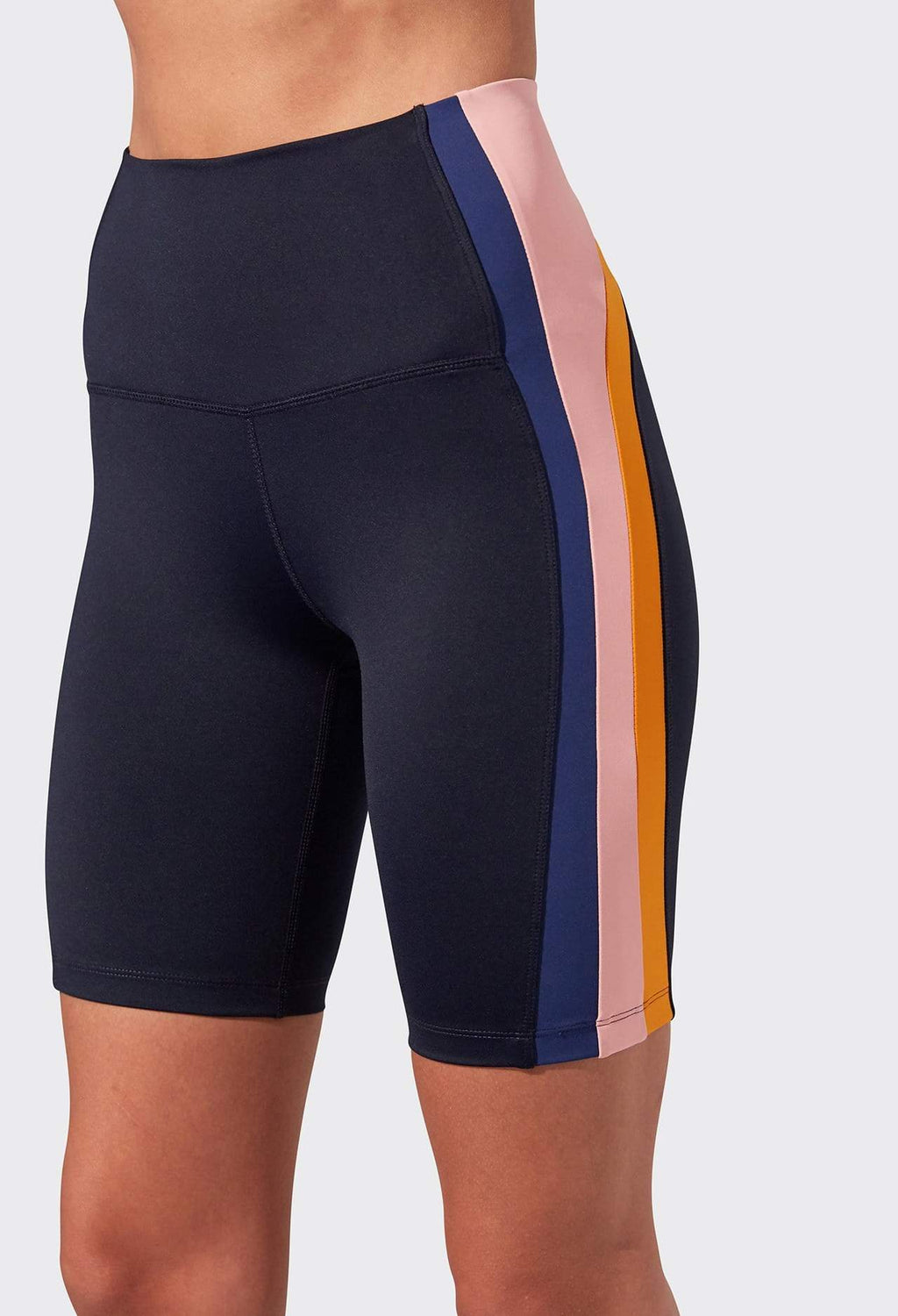 Jaden High Waist Techflex Biker - Indigo Multi