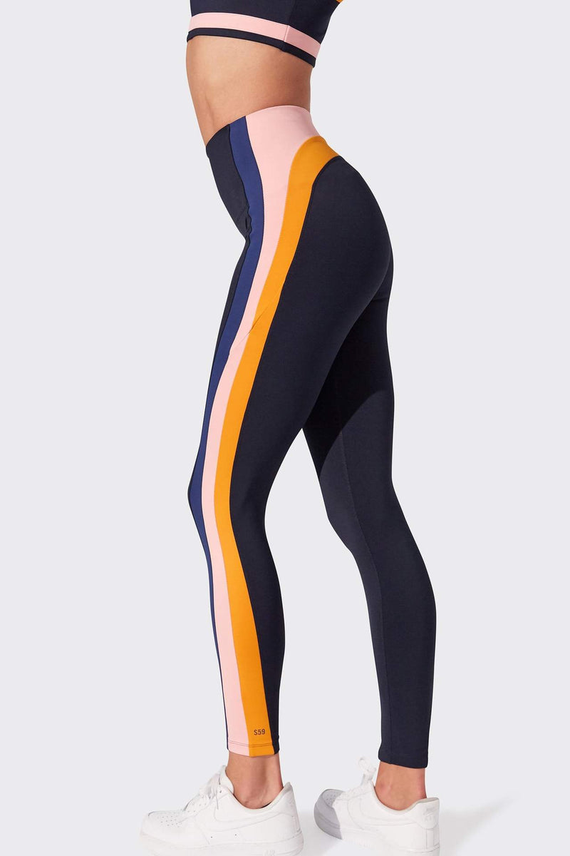 Jaden 7/8 High Waist Legging - Indigo/Blue Multi